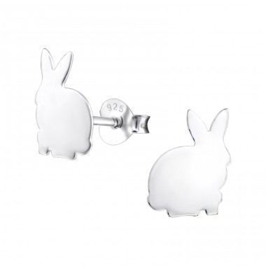 Rabbit - 925 Sterling Silver Ear Studs for kids A4S24978