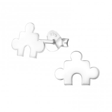 Puzzle - 925 Sterling Silver Ear Studs for kids A4S24981