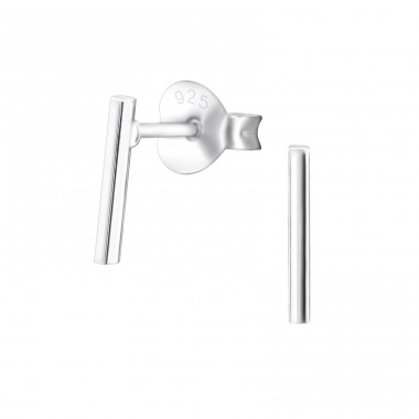 Bar - 925 Sterling Silver Ear Studs for kids A4S26182