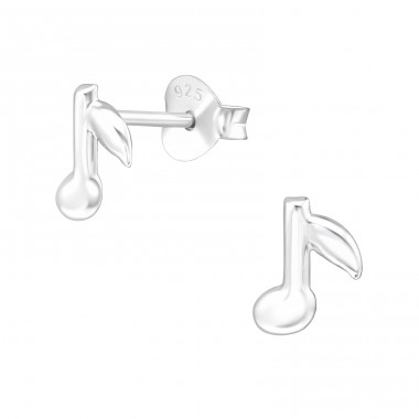 Music Note - 925 Sterling Silver Ear Studs for kids A4S26285