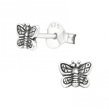 Butterfly - 925 Sterling Silver Ear Studs for kids A4S26773
