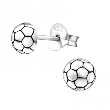 Football - 925 Sterling Silver Ear Studs for kids A4S26812