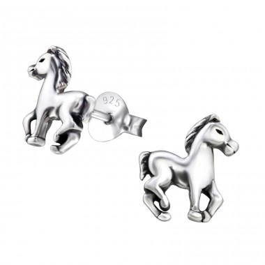 Horse - 925 Sterling Silver Ear Studs for kids A4S26814