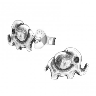Elephant - 925 Sterling Silver Ear Studs for kids A4S26815