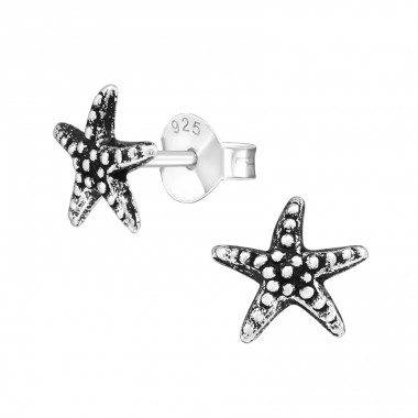 Starfish - 925 Sterling Silver Ear Studs for kids A4S27471
