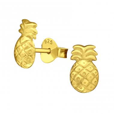Pineapple - 925 Sterling Silver Ear Studs for kids A4S27473