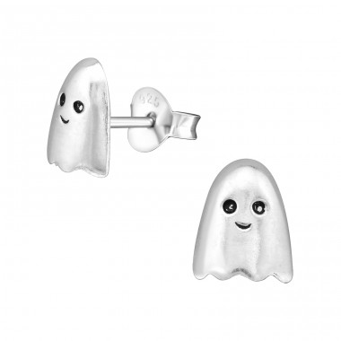 Ghost - 925 Sterling Silver Ear Studs for kids A4S28244