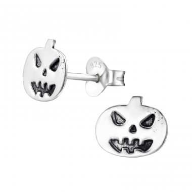 Pumpkin - 925 Sterling Silver Ear Studs For Kids A4S28248