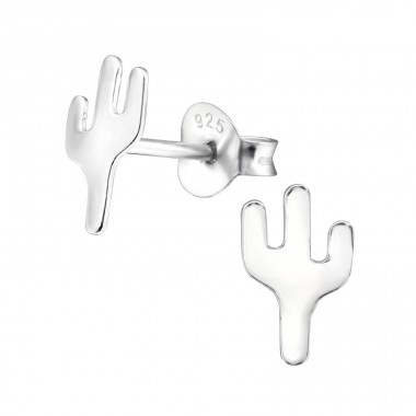 Cactus - 925 Sterling Silver Ear Studs for kids A4S28611