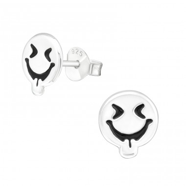 Silly Face - 925 Sterling Silver Ear Studs for kids A4S29342