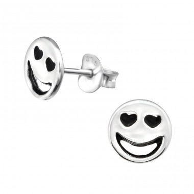 Love Face - 925 Sterling Silver Ear Studs for kids A4S30168