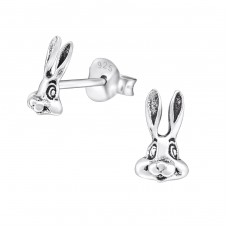 Rabbit - 925 Sterling Silver Ear Studs for kids A4S30739