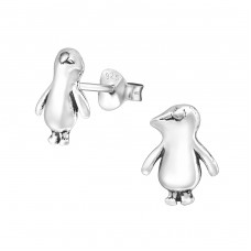 Penguin - 925 Sterling Silver Ear Studs for kids A4S30744