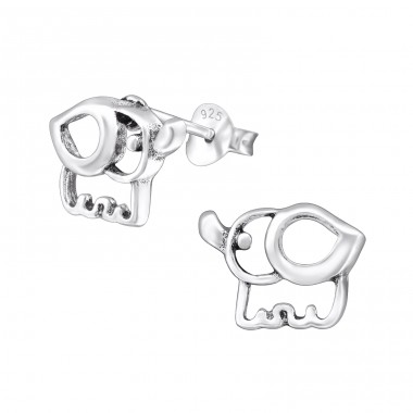 Elephant - 925 Sterling Silver Ear Studs for kids A4S30748