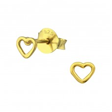 Heart - 925 Sterling Silver Ear Studs for kids A4S31669