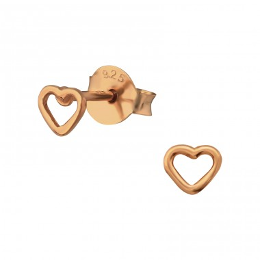 Heart - 925 Sterling Silver Ear Studs for kids A4S31670