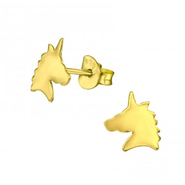Unicorn - 925 Sterling Silver Ear Studs without stones A4S31795