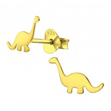 Dinosaur - 925 Sterling Silver Ear Studs for kids A4S31803