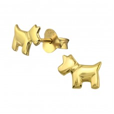 Dog - 925 Sterling Silver Ear Studs for kids A4S31805