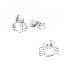 Crab - 925 Sterling Silver Ear Studs for kids A4S31988