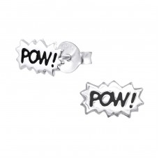 Pow! - 925 Sterling Silver Ear Studs for kids A4S31989