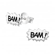 Bam! - 925 Sterling Silver Ear Studs for kids A4S31990