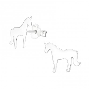 Unicorn - 925 Sterling Silver Ear Studs for kids A4S31991