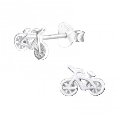Bicycle - 925 Sterling Silver Ear Studs for kids A4S32171