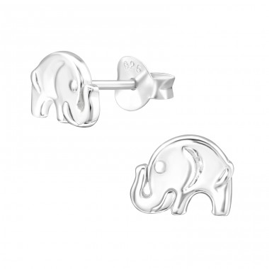 Elephant - 925 Sterling Silver Ear Studs for kids A4S32176