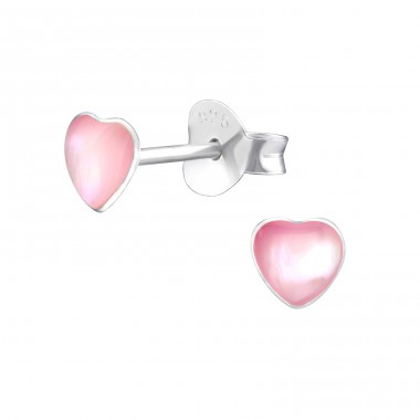 Heart - 925 Sterling Silver Ear Studs for kids A4S33025