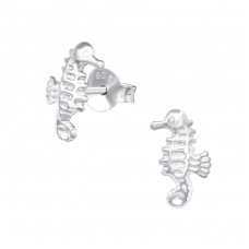 Seahorse - 925 Sterling Silver Ear Studs for kids A4S33069