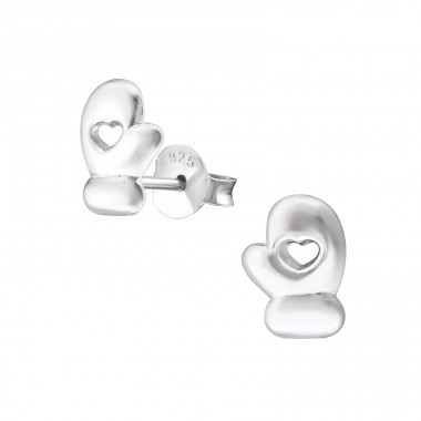 Gloves - 925 Sterling Silver Ear Studs for kids A4S33604