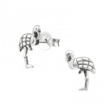 Flamingo - 925 Sterling Silver Ear Studs for kids A4S33605