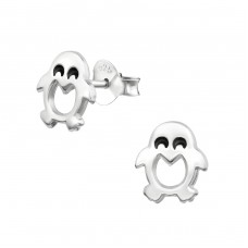 Penguin - 925 Sterling Silver Ear Studs for kids A4S33606