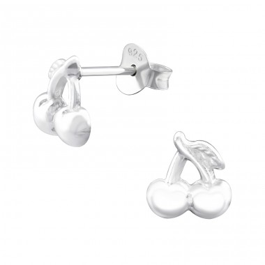 Cherry - 925 Sterling Silver Ear Studs for kids A4S34060