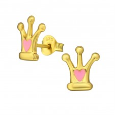 Crown - 925 Sterling Silver Ear Studs for kids A4S35392