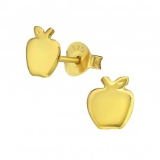 Apple - 925 Sterling Silver Ear Studs for kids A4S35793