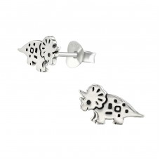 Dinosaur - 925 Sterling Silver Ear Studs for kids A4S36691