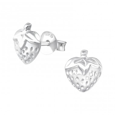 Strawberry - 925 Sterling Silver Ear Studs for kids A4S36898