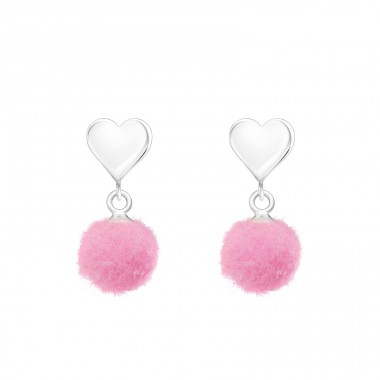Heart - 925 Sterling Silver Ear Studs for kids A4S37168