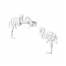 Flamingo - 925 Sterling Silver Ear Studs for kids A4S37344