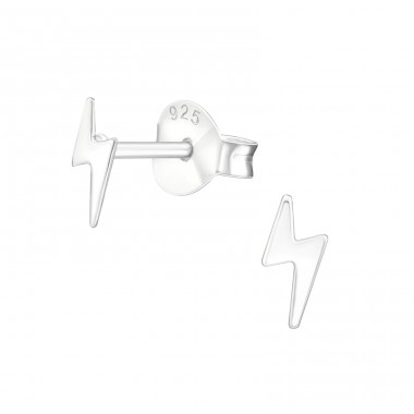 Lightning Bolt - 925 Sterling Silver Ear Studs for kids A4S38457