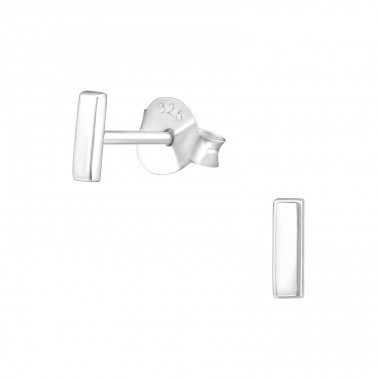 Bar - 925 Sterling Silver Ear Studs for kids A4S38464