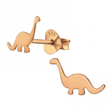 Dinosaur diplodocus - 925 Sterling Silver Ear Studs For Kids A4S39834