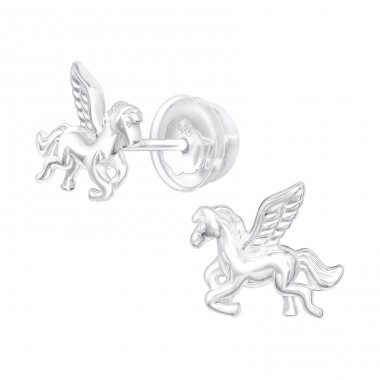 Pegasus - 925 Sterling Silver Ear Studs for kids A4S40374