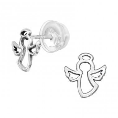 Angel - 925 Sterling Silver Ear Studs for kids A4S40402