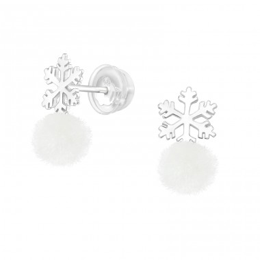 Snowflake - 925 Sterling Silver Ear Studs for kids A4S40674