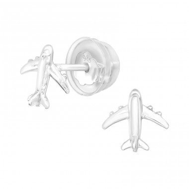 Aircraft - 925 Sterling Silver Ear Studs without stones A4S40912