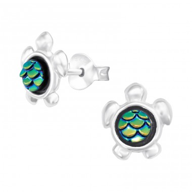 Turtle - 925 Sterling Silver Ear Studs for kids A4S41089