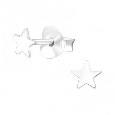Star - 925 Sterling Silver Ear Studs for kids A4S41159